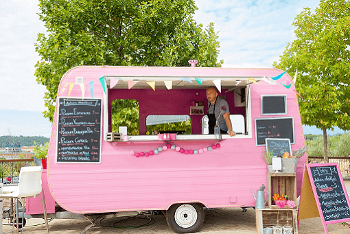 Pink food truck smaller
